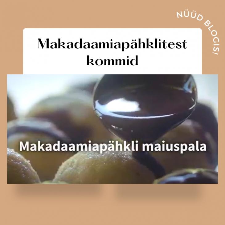 Makadaamiapähkli maiuspala