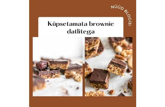 Küpsetamata brownie datlitega