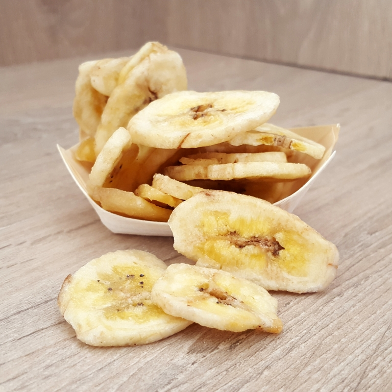 Banana chips with honey