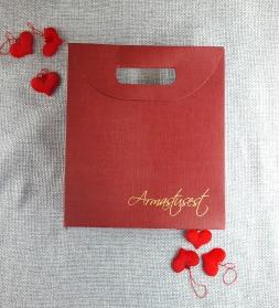 Подарочная упаковка, красная 265x95x280
