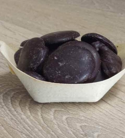 Chocolate buttons 100% 250g, organic