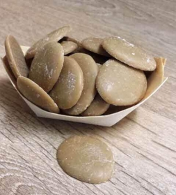 White chocolate buttons 40% 1kg, organic