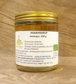 Agave syrup 450g, organic
