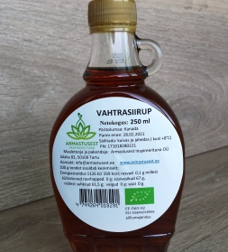 Vahtrasiirup 250 ml,  mahe