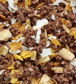 Organic chocolate muesli  with rice 800g