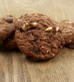 Organic chocolate hazelnut cookies 250g