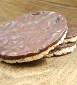 Organic rice wafers with dark chocolate 100g